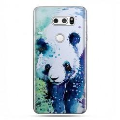 LG V30 - etui na telefon z grafiką - Miś panda watercolor.