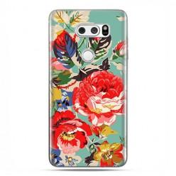 LG V30 - etui na telefon z grafiką - Kolorowe róże.