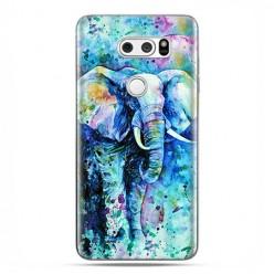LG V30 - etui na telefon z grafiką - Kolorowy słoń.