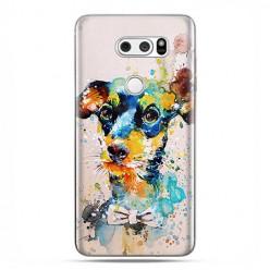 LG V30 - etui na telefon z grafiką - Szczeniak watercolor.