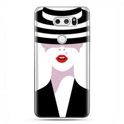 LG V30 - etui na telefon z grafiką - Kobieta w kapeluszu.