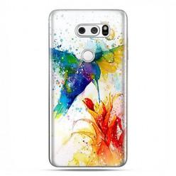 LG V30 - etui na telefon z grafiką - Niebieski koliber watercolor.