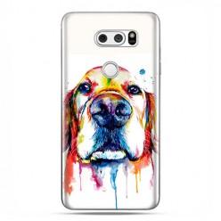 LG V30 - etui na telefon z grafiką - Pies labrador watercolor.