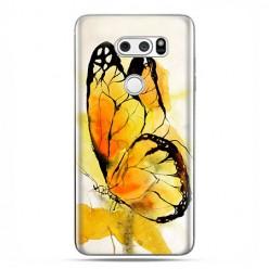 LG V30 - etui na telefon z grafiką - Motyl watercolor.
