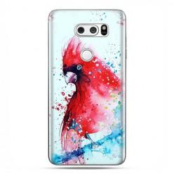 LG V30 - etui na telefon z grafiką - Czerwona papuga watercolor.