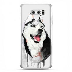 LG V30 - etui na telefon z grafiką - Pies Husky watercolor.