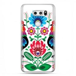 LG V30 - etui na telefon z grafiką - Łowickie wzory kwiaty.
