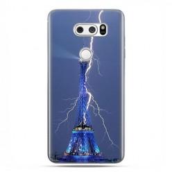 LG V30 - etui na telefon z grafiką - Wieża Eiffla z błyskawicą.