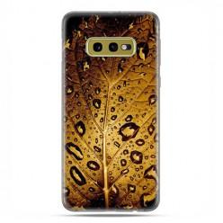 Samsung Galaxy S10e - etui na telefon z grafiką - Złoty liść