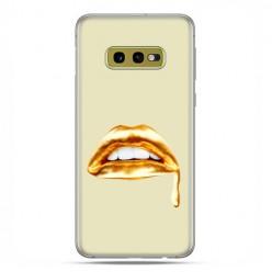 Samsung Galaxy S10e - etui na telefon z grafiką - złoto usta
