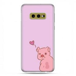 Samsung Galaxy S10e - etui na telefon z grafiką - Zakochana świnka
