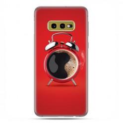 Samsung Galaxy S10e - etui na telefon z grafiką - Kawa poranny budzik