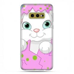 Samsung Galaxy S10e - etui na telefon z grafiką - Różowy królik