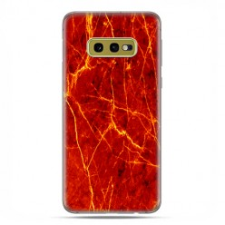 Samsung Galaxy S10e - etui na telefon z grafiką - Czerwony marmur ze złotymi liniami