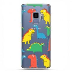 Samsung Galaxy S9 - etui na telefon z grafiką - Kolorowe dinozaury