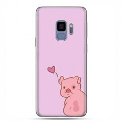 Samsung Galaxy S9 - etui na telefon z grafiką - Zakochana świnka