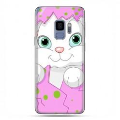 Samsung Galaxy S9 - etui na telefon z grafiką - Różowy królik