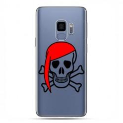 Samsung Galaxy S9 - etui na telefon z grafiką - Pirat Roger z czerwoną chustą