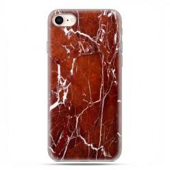 Etui na telefon iPhone 7 - Biało czerwony marmur