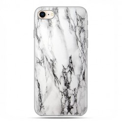 Apple iPhone 8 - etui case na telefon - Biało czarny marmur