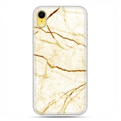 Apple iPhone XR - etui na telefon - Żółto złoty marmur