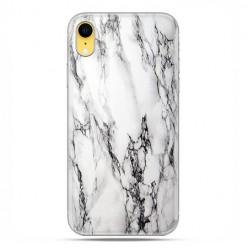 Apple iPhone XR - etui na telefon - Biało czarny marmur