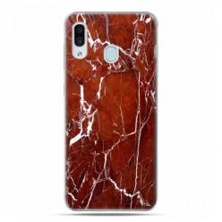 Samsung Galaxy A30 SM-A305 - etui na telefon z grafiką - Biało czerwony marmur