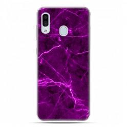 Samsung Galaxy A30 SM-A305 - etui na telefon z grafiką - Fioletowy jaskrawy marmur
