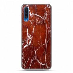 Samsung Galaxy A50 - etui na telefon z grafiką - Biało czerwony marmur