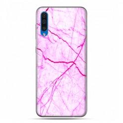 Samsung Galaxy A50 - etui na telefon z grafiką - Jaskrawy różowy marmur