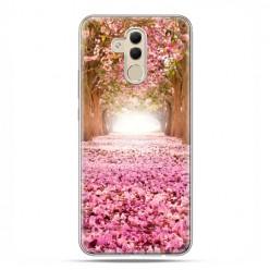 Etui na telefon Huawei Mate 20 Lite - różowe liście w parku