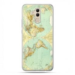 Etui na telefon Huawei Mate 20 Lite - mapa świata.