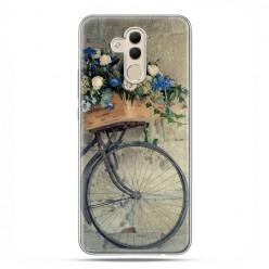 Etui na telefon Huawei Mate 20 Lite - rower z kwiatami.