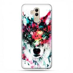 Etui na telefon Huawei Mate 20 Lite - głowa wilka watercolor.
