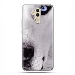 Etui na telefon Huawei Mate 20 Lite - wilk z niebieskim okiem.