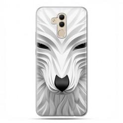 Etui na telefon Huawei Mate 20 Lite - biały wilk 3d.