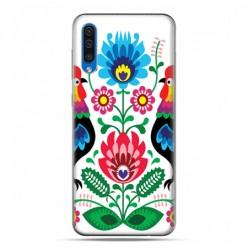 Etui na telefon Samsung Galaxy A50 - łowickie wzory kwiaty.
