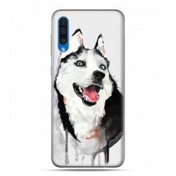 Etui na telefon Samsung Galaxy A50 - pies Husky watercolor