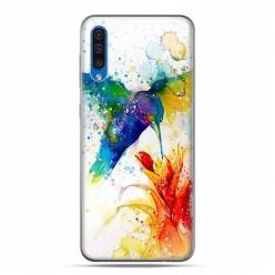Etui na telefon Samsung Galaxy A50 - niebieski koliber watercolor