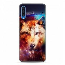 Etui na telefon Samsung Galaxy A50 - wilk z galaktyki.
