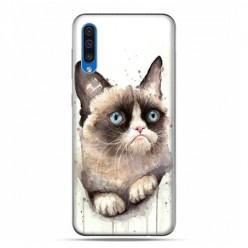 Etui na telefon Samsung Galaxy A50 - kot zrzęda watercolor.