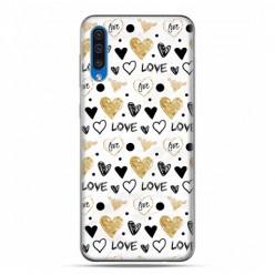 Etui na telefon Samsung Galaxy A50 - serduszka Love.
