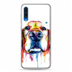 Etui na telefon Samsung Galaxy A50 - pies labrador watercolor.