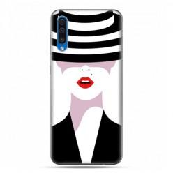Etui na telefon Samsung Galaxy A50 - kobieta w kapeluszu.