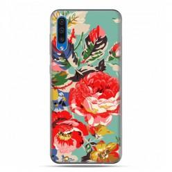 Etui na telefon Samsung Galaxy A50 - kolorowe róże.