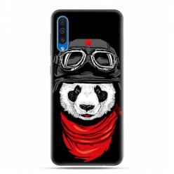 Etui na telefon Samsung Galaxy A50 - panda w czapce.