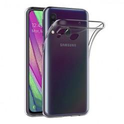 Samsung Galaxy A40 - silikonowe etui na telefon Clear Case - przezroczyste.
