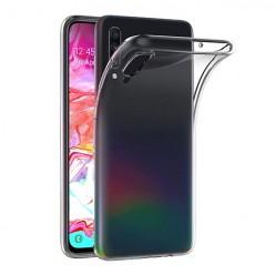 Samsung Galaxy A70 - silikonowe etui na telefon Clear Case - przezroczyste.