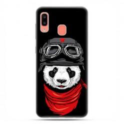Samsung Galaxy A20E - etui na telefon wzory - Panda w czapce.