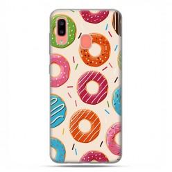 Samsung Galaxy A20E - etui na telefon wzory - Kolorowe pączki.